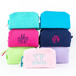 Small Waffle Travel Bag - Monogrammed