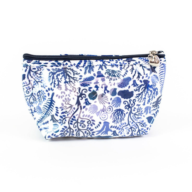 Blue Seashells Coated Travel Bag - small
