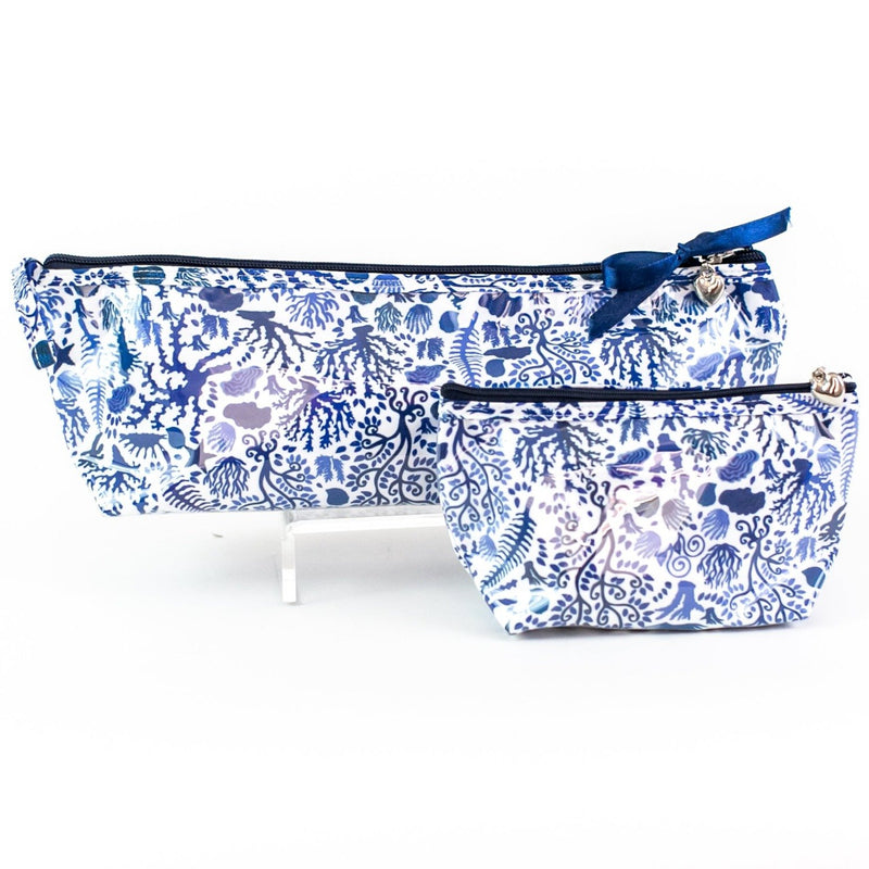 Blue Seashells Coated Travel Bags