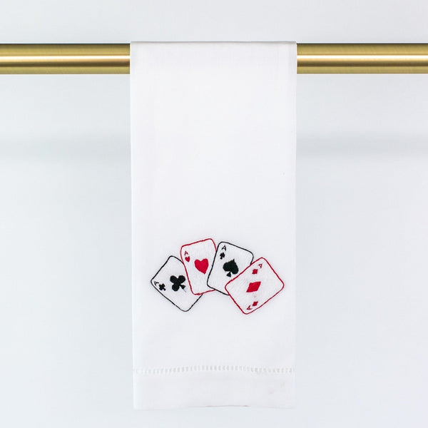 Guest Towel with Playing Cards - can be personalized
