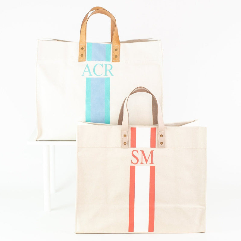 Brynn Canvas Tote with Monogram