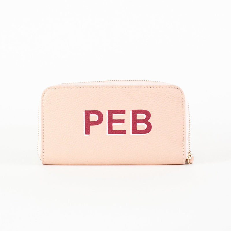 Linda Leather Wallet - Personalized - Pink