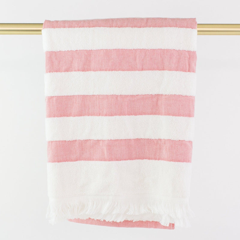 Matouk Amado Beach Towel - Monogrammed - Red