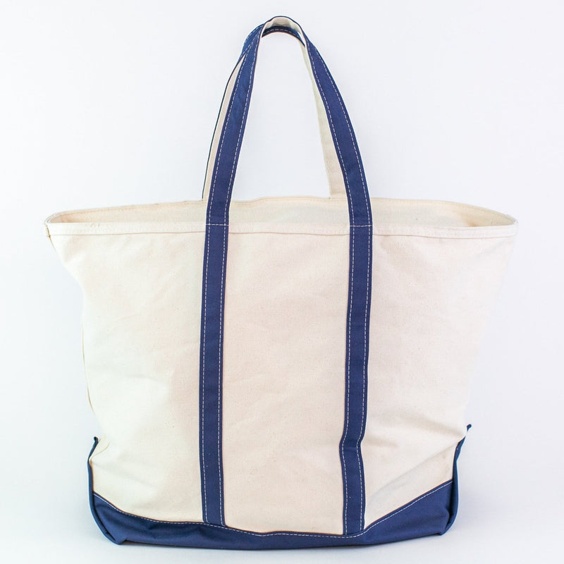 Jumbo Canvas Boat Tote - Navy - Monogrammed or Personalized