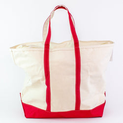 Jumbo Canvas Boat Tote - Red - Monogrammed or Personalized