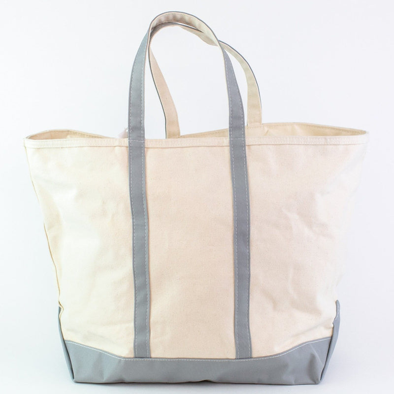 Jumbo Canvas Boat Tote - Grey - Monogrammed or Personalized