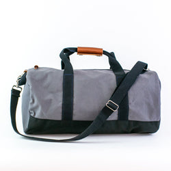 Monogrammed Colorblock Duffel Bag
