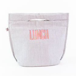 Insulated Lunch Tote - Monogrammed or Personalized - Gray