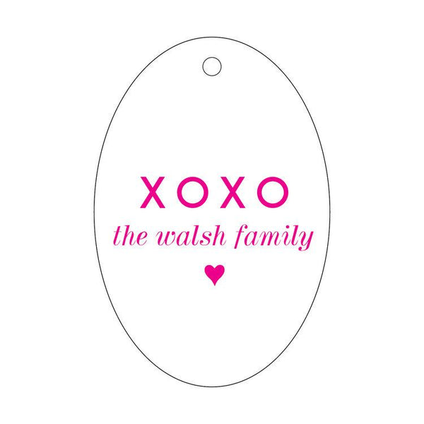 Personalized XOXO Letterpress Gift Tags