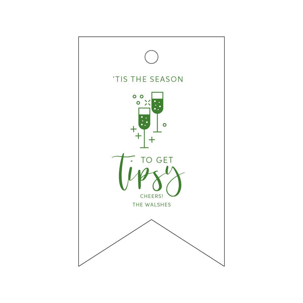 Season to Get Tipsy Letterpress Gift Tags