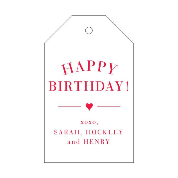 Happy Birthday Letterpress Gift Tags - Personalized