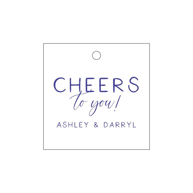 """Cheers to You!"" Letterpress Gift Tags - Personalized"