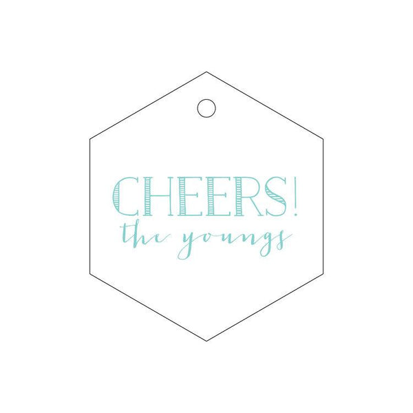 """Cheers!"" Letterpress Gift Tags - Personalized"