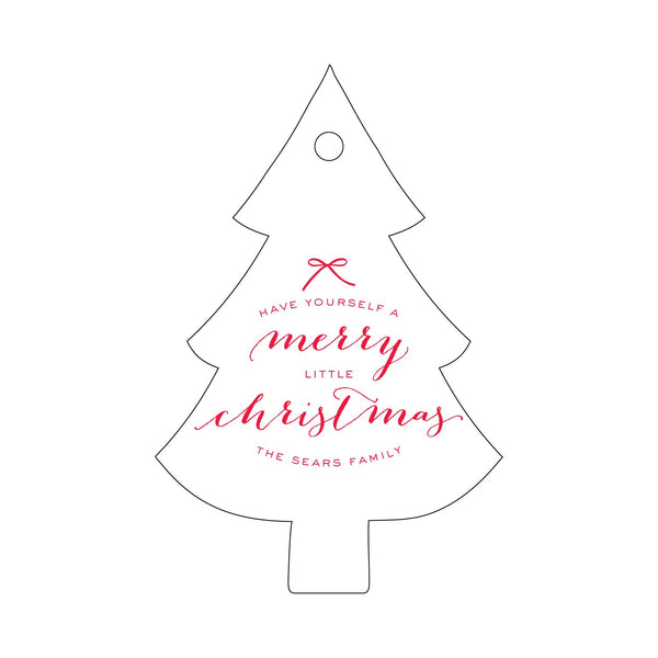 Merry Little Christmas Letterpress Gift Tags - Personalized