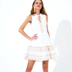 White Gold Tata Yoke Dress