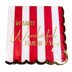The Most Wonderful Time of the Year Christmas Paper Cocktail Napkins