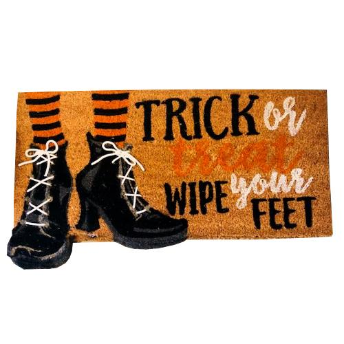 Halloween Doormat - Trick or Treat Wipe Your Feet