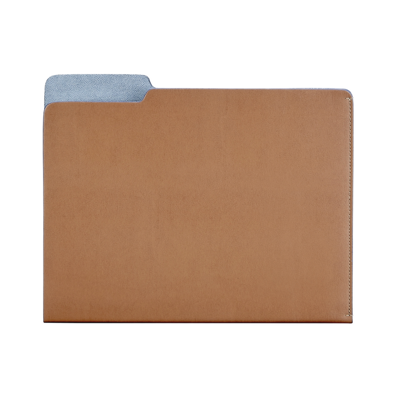 Carlo Leather File Folder - Tan Leather - Personalize