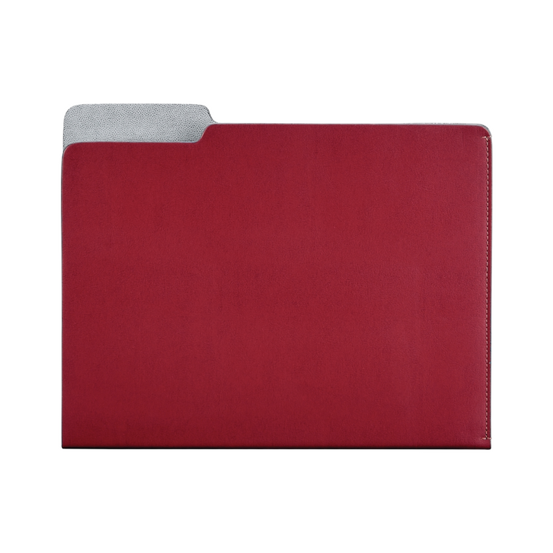 Carlo Leather File Folder - Red - Personalize