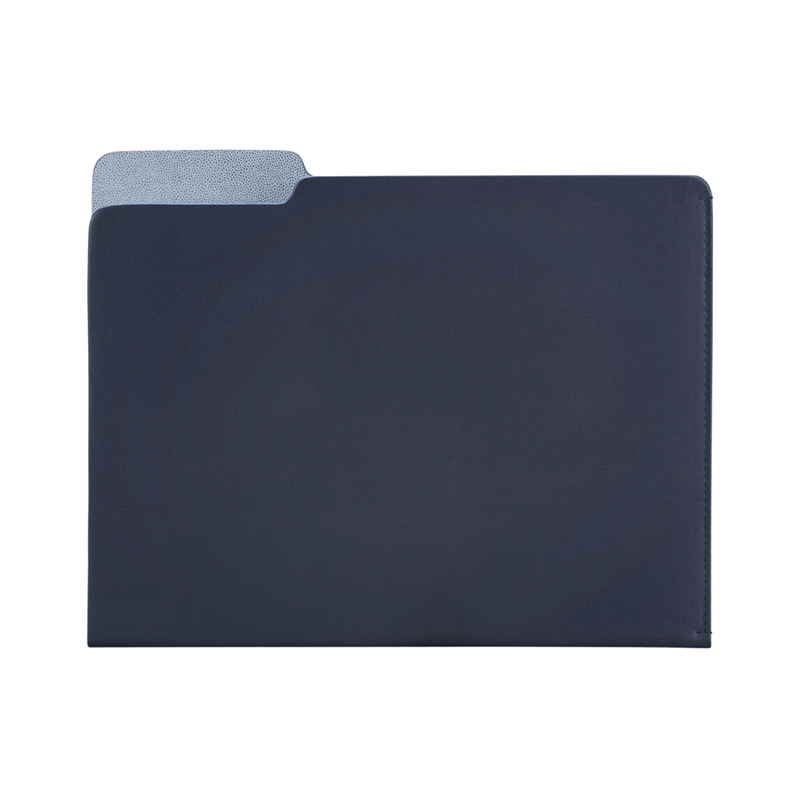 Carlo Leather File Folder - Navy Leather - Personalize