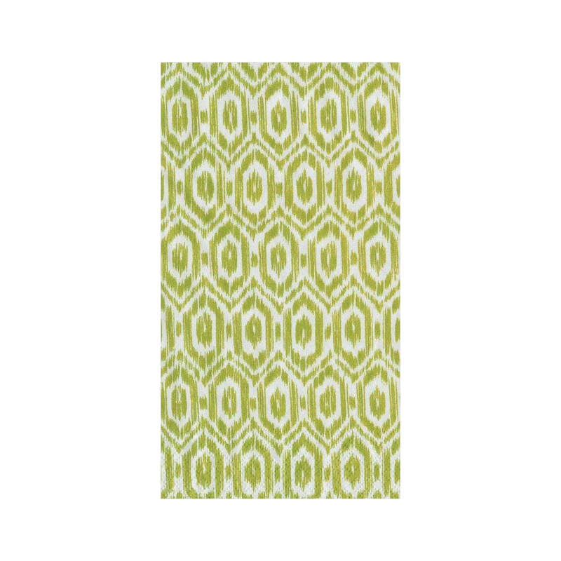 Paper Guest Towels - Ikat Green
