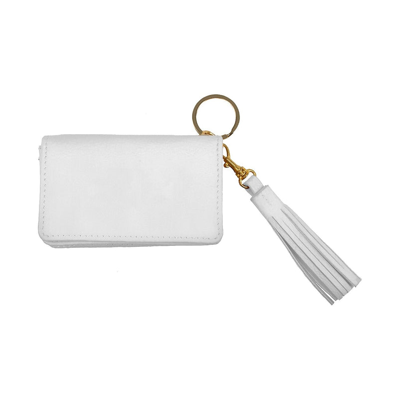 Disco Leather Wallet - Personalized - White