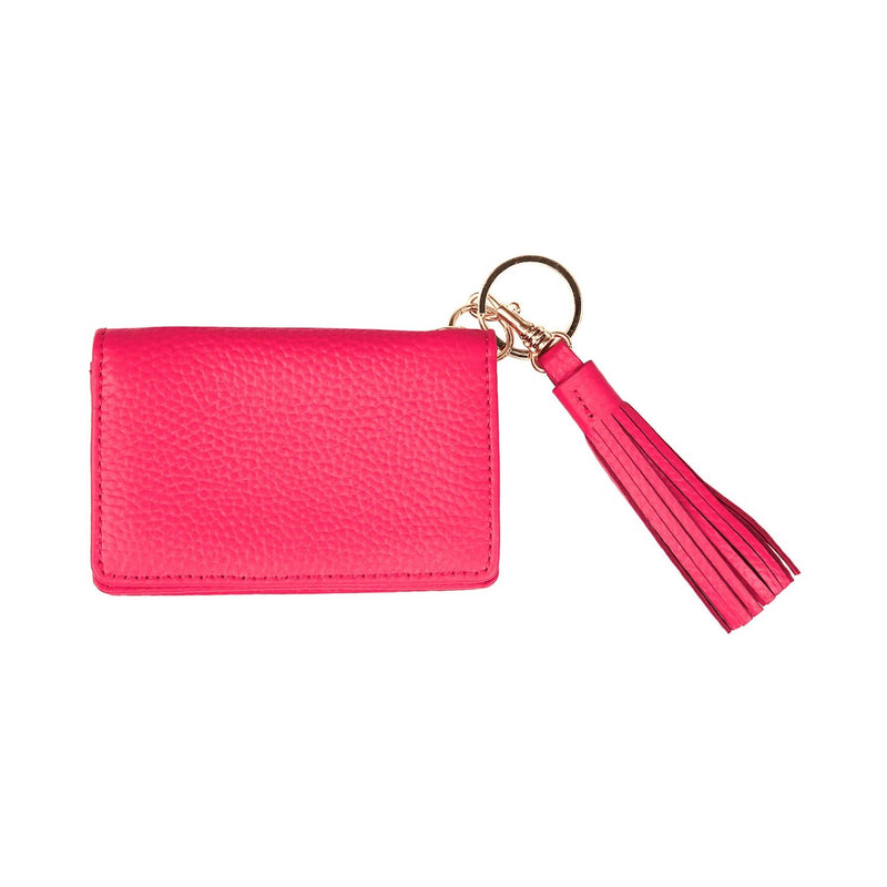 Disco Leather Wallet - Personalized - Pink