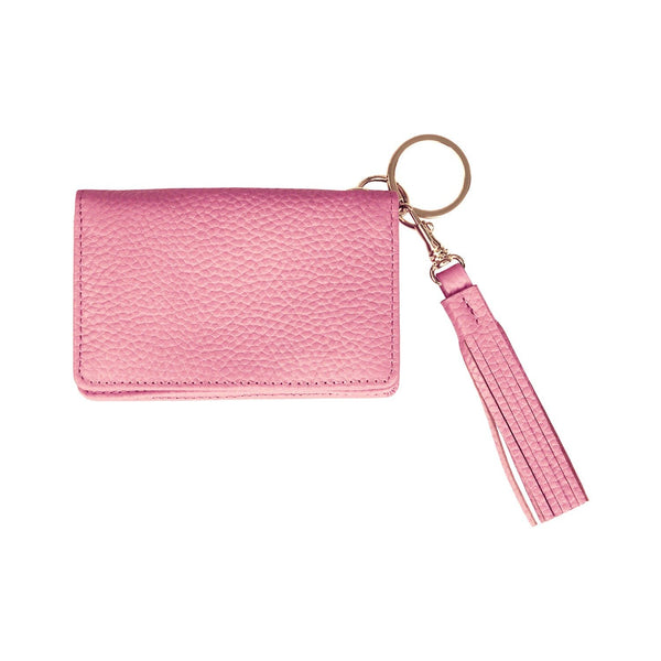 Disco Leather Wallet - Personalized - Rose