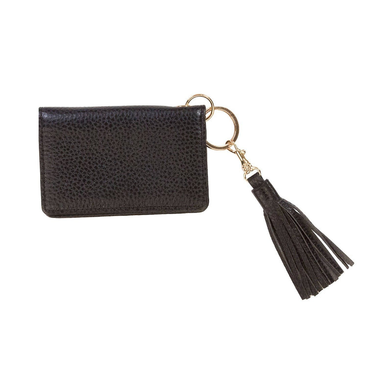 Disco Leather Wallet - Personalized  - Black