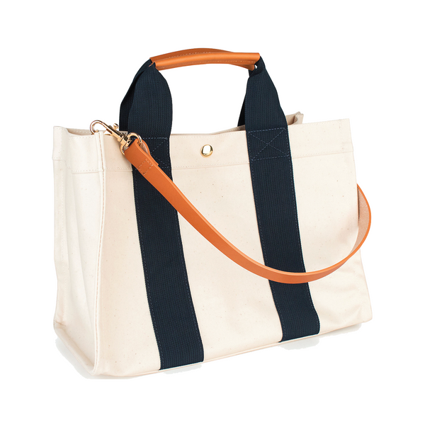 Kylie Tote features a removable organizational insert - Sailor - Personalized