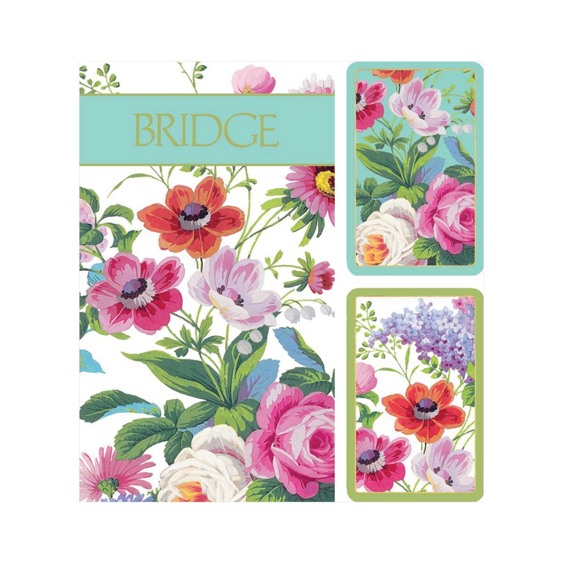 Bridge Playing Cards Set - Flowers