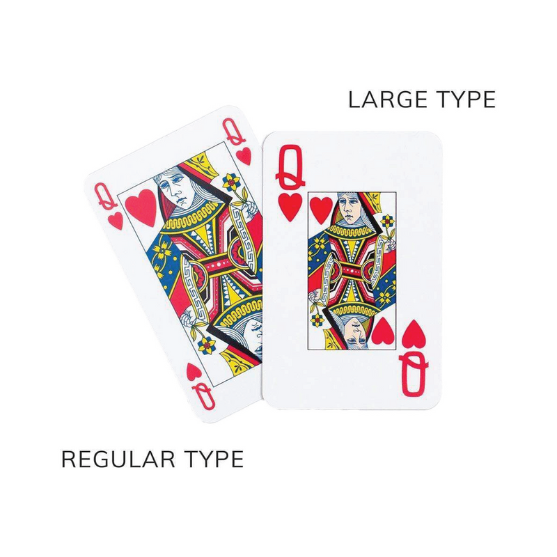 Large Type vs Regular Type Playing Cards