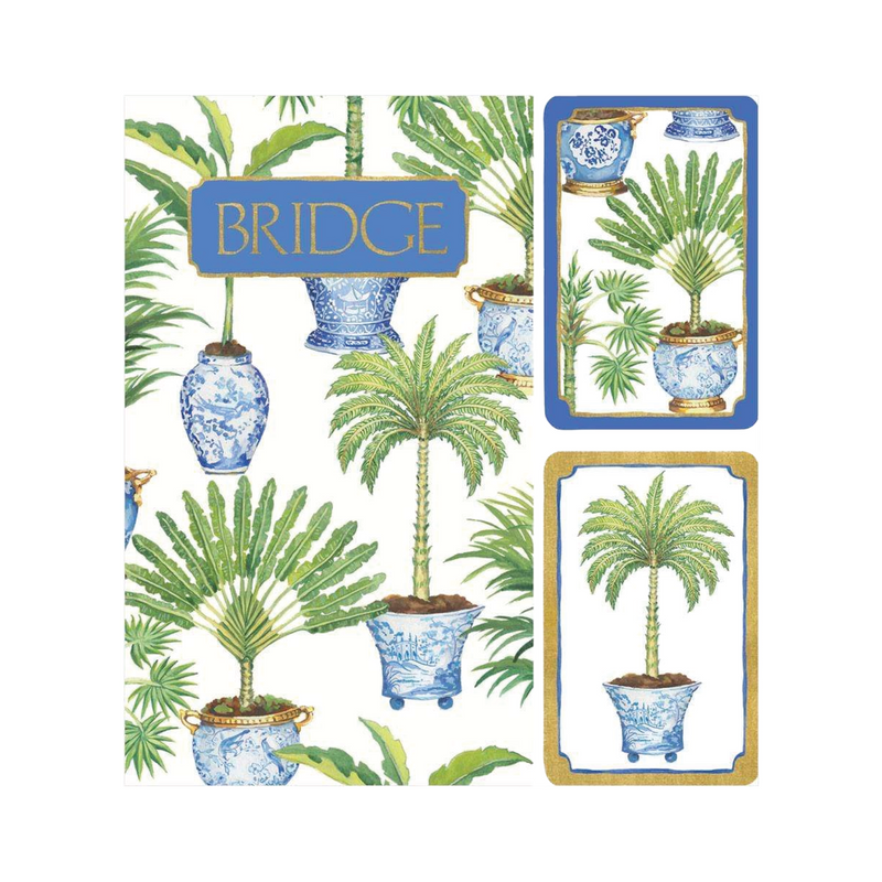 Bridge Playing Cards Set - Palm Trees