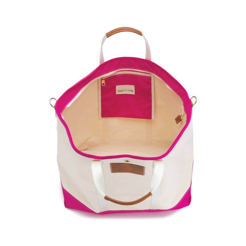 Avery Coated Canvas Jumbo Tote - Pink