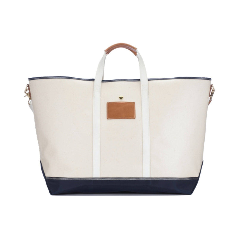 Avery Coated Canvas Jumbo Tote - Navy