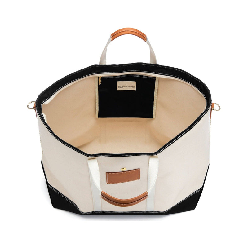 Avery Coated Canvas Jumbo Tote - Black