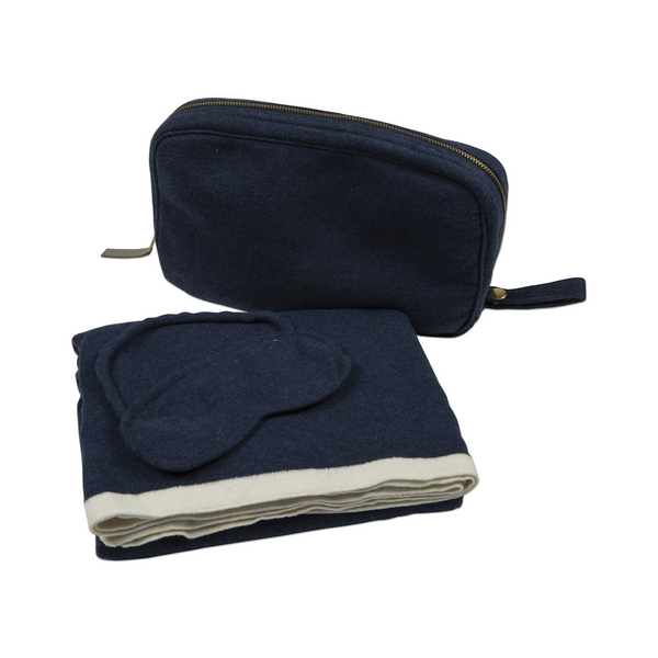Travel Blanket Set - Monogram or Personalize - Navy