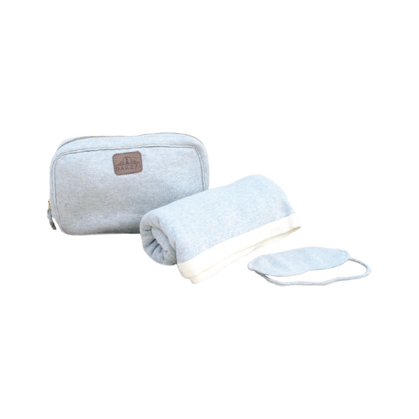 Travel Blanket Set - Monogram or Personalize - Gray