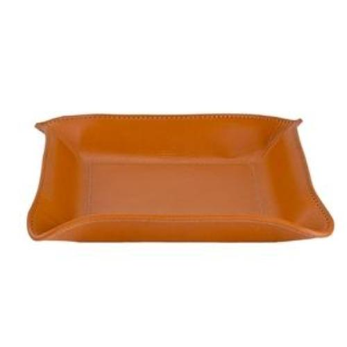 Medium Leather Catchall - Personalized - British Tan