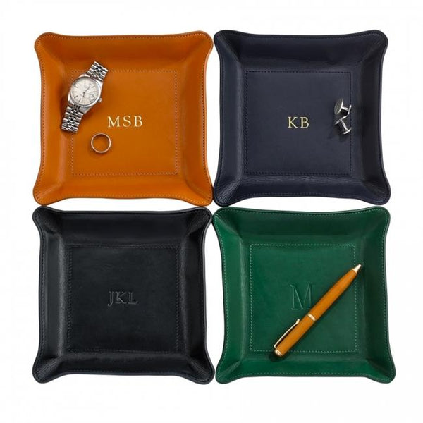 Medium Leather Catchall - Personalized