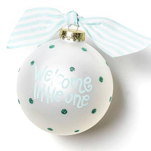 Welcome Little One Carriage Boy Ornament