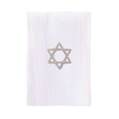 Gray Star of David Guest Towel