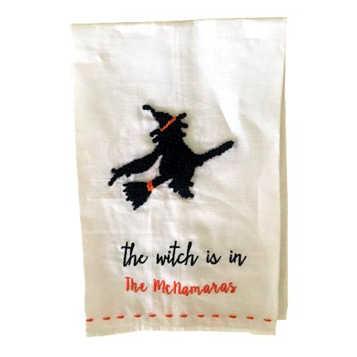 The Witch Is In Halloween Guest Towel