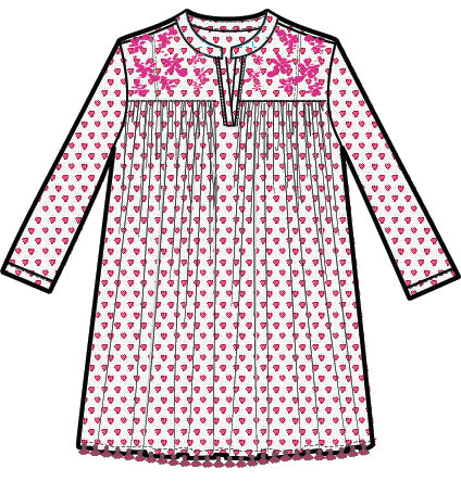 Roller Rabbit Pink Heart Adult Coverup