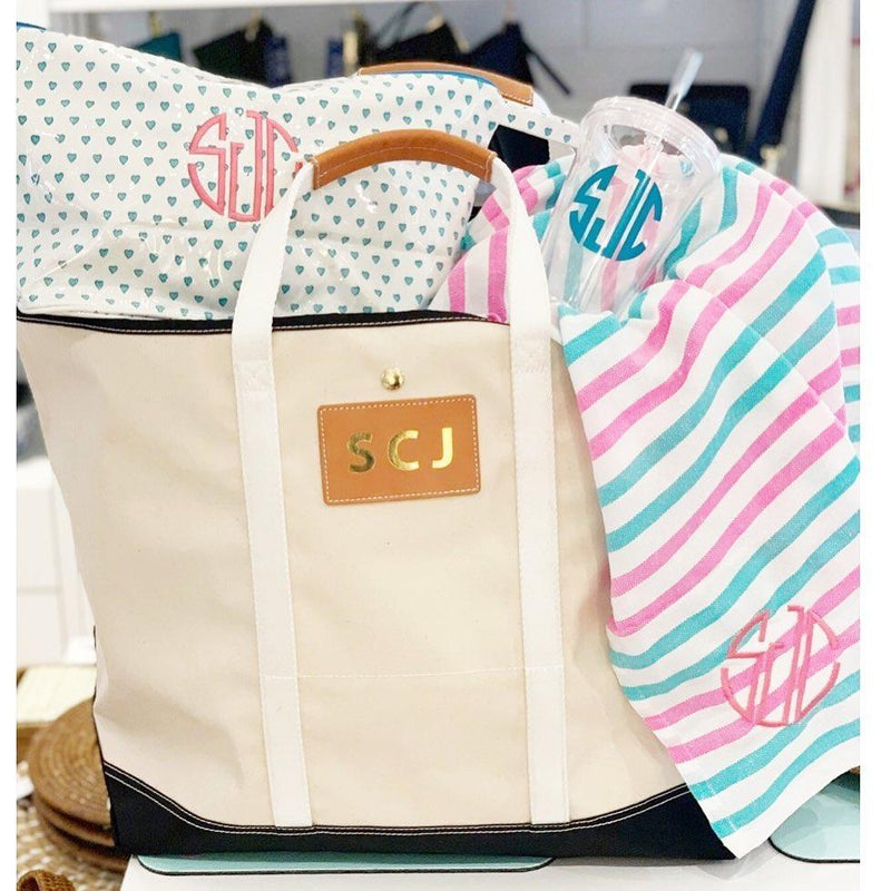 Avery Coated Canvas Jumbo Tote  - shown with monogram