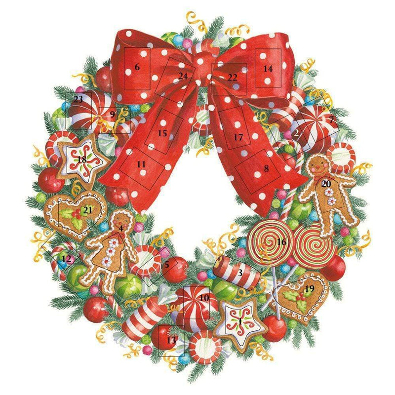 Candy Wreath Advent Calendar