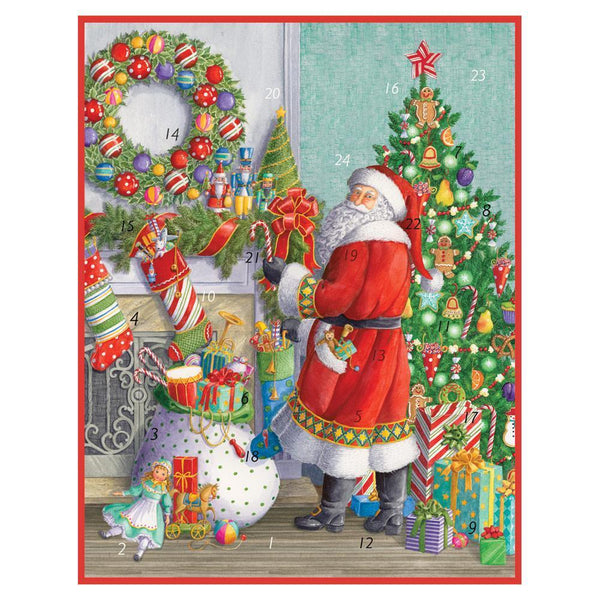Santa at the Mantle Advent Calendar