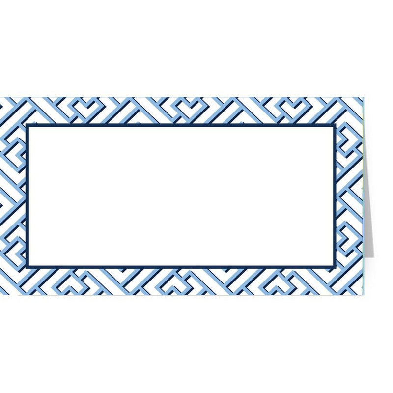 Blue Trellis Place Cards