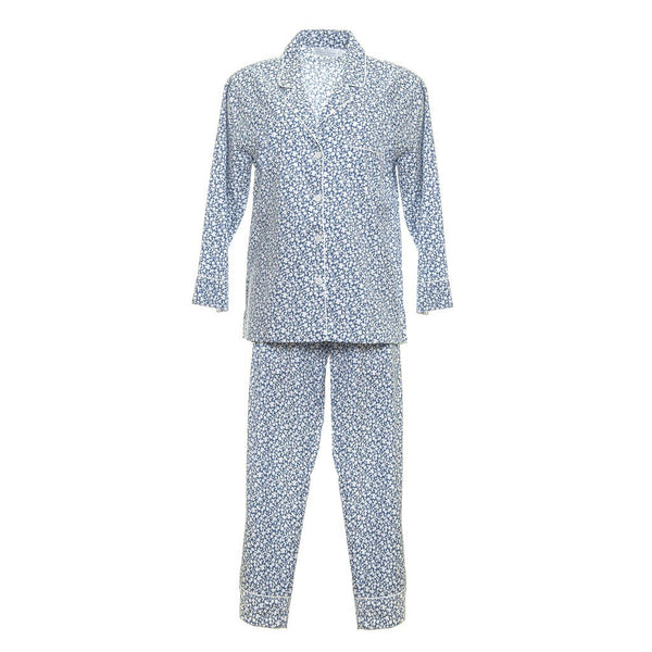 Liberty Long Pajamas - Blue Floral
