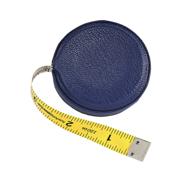 Leather Tape Measure - Indigo - Personalized